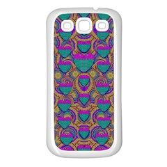 Merry Love In Heart  Time Samsung Galaxy S3 Back Case (White)