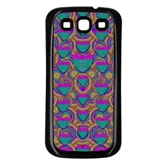 Merry Love In Heart  Time Samsung Galaxy S3 Back Case (Black)