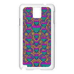 Merry Love In Heart  Time Samsung Galaxy Note 3 N9005 Case (White)