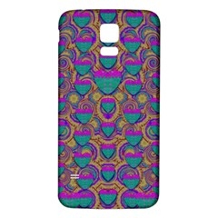 Merry Love In Heart  Time Samsung Galaxy S5 Back Case (White)