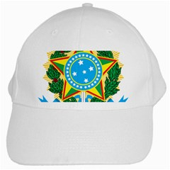 Coat of Arms of Brazil White Cap