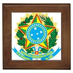Coat of Arms of Brazil Framed Tiles