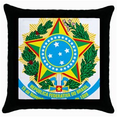 Coat of Arms of Brazil Throw Pillow Case (Black)