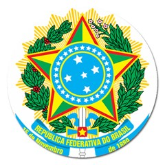Coat of Arms of Brazil Magnet 5  (Round)