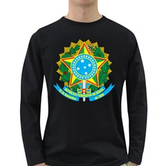 Coat of Arms of Brazil Long Sleeve Dark T-Shirts