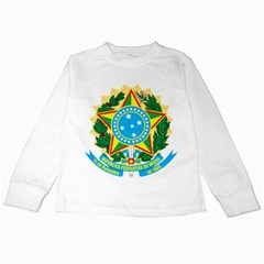 Coat of Arms of Brazil Kids Long Sleeve T-Shirts