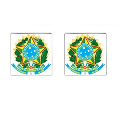 Coat of Arms of Brazil Cufflinks (Square)