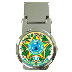 Coat of Arms of Brazil Money Clip Watches