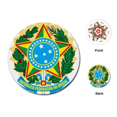 Coat of Arms of Brazil Playing Cards (Round)