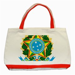 Coat of Arms of Brazil Classic Tote Bag (Red)