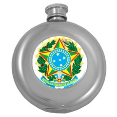 Coat of Arms of Brazil Round Hip Flask (5 oz)