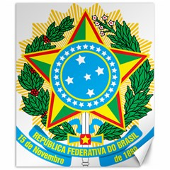 Coat of Arms of Brazil Canvas 8  x 10