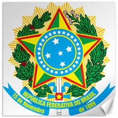 Coat of Arms of Brazil Canvas 12  x 12