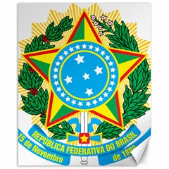 Coat of Arms of Brazil Canvas 16  x 20
