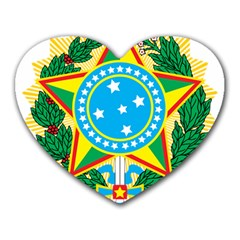 Coat of Arms of Brazil Heart Mousepads