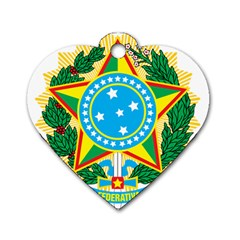 Coat of Arms of Brazil Dog Tag Heart (One Side)
