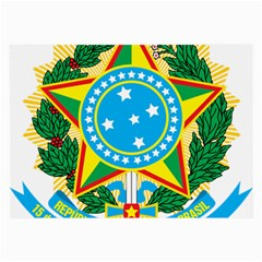 Coat of Arms of Brazil Large Glasses Cloth (2-Side)