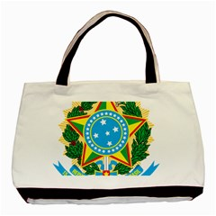 Coat of Arms of Brazil Basic Tote Bag (Two Sides)