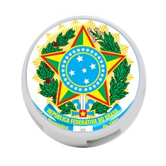Coat of Arms of Brazil 4-Port USB Hub (One Side)