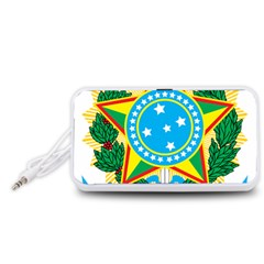 Coat of Arms of Brazil Portable Speaker (White)