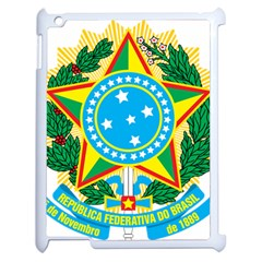 Coat of Arms of Brazil Apple iPad 2 Case (White)