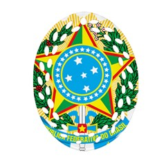 Coat of Arms of Brazil Oval Filigree Ornament (2-Side)