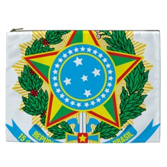 Coat of Arms of Brazil Cosmetic Bag (XXL)
