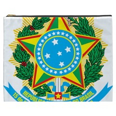 Coat of Arms of Brazil Cosmetic Bag (XXXL)
