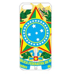 Coat of Arms of Brazil Apple iPhone 5 Seamless Case (White)