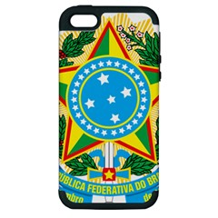 Coat of Arms of Brazil Apple iPhone 5 Hardshell Case (PC+Silicone)