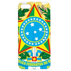 Coat of Arms of Brazil Apple iPhone 5 Hardshell Case with Stand