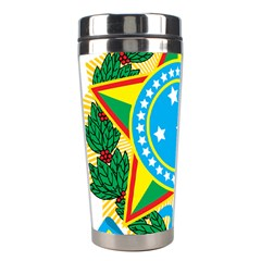 Coat of Arms of Brazil Stainless Steel Travel Tumblers