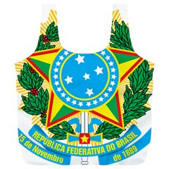 Coat of Arms of Brazil Full Print Recycle Bags (L)