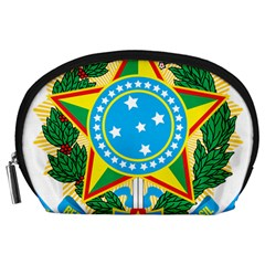 Coat of Arms of Brazil Accessory Pouches (Large)
