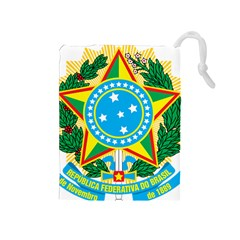 Coat of Arms of Brazil Drawstring Pouches (Medium)