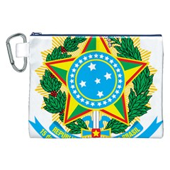 Coat of Arms of Brazil Canvas Cosmetic Bag (XXL)
