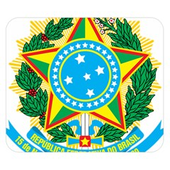 Coat of Arms of Brazil Double Sided Flano Blanket (Small)