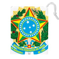 Coat of Arms of Brazil Drawstring Pouches (XXL)
