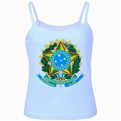 Coat of Arms of Brazil, 1971-1992 Baby Blue Spaghetti Tank