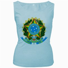Coat of Arms of Brazil, 1971-1992 Women s Baby Blue Tank Top