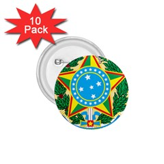 Coat of Arms of Brazil, 1971-1992 1.75  Buttons (10 pack)