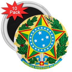 Coat of Arms of Brazil, 1971-1992 3  Magnets (10 pack)