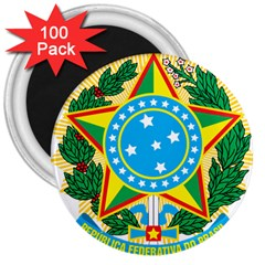 Coat of Arms of Brazil, 1971-1992 3  Magnets (100 pack)