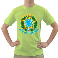 Coat of Arms of Brazil, 1971-1992 Green T-Shirt