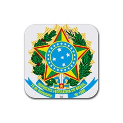 Coat of Arms of Brazil, 1971-1992 Rubber Coaster (Square)
