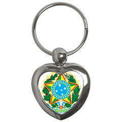 Coat of Arms of Brazil, 1971-1992 Key Chains (Heart)