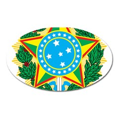 Coat of Arms of Brazil, 1971-1992 Oval Magnet