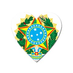 Coat of Arms of Brazil, 1971-1992 Heart Magnet