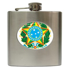 Coat of Arms of Brazil, 1971-1992 Hip Flask (6 oz)