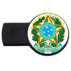 Coat of Arms of Brazil, 1971-1992 USB Flash Drive Round (1 GB)